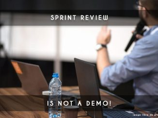 sprint review is not a demo