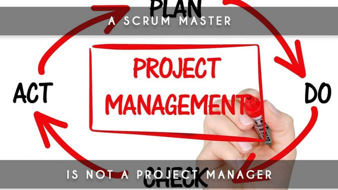scrum master not project manager