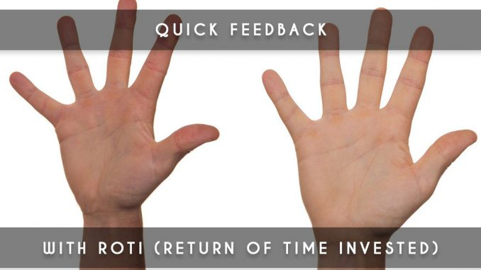 roti - return of time invested