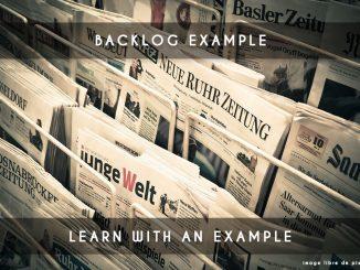 backlog example
