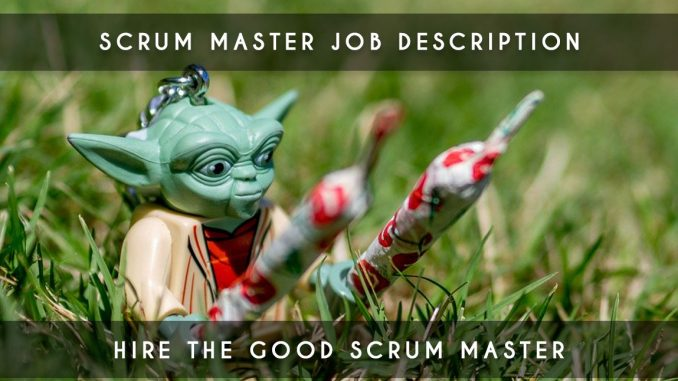 scrum master job description