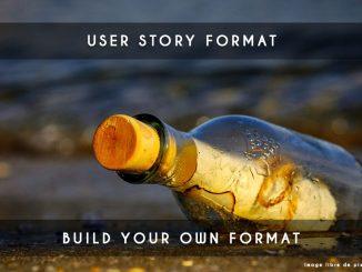 user story format